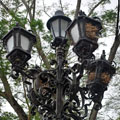 A lamp post in Mompos, an isolated colonial town in the delta of the River Magdalena.