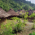 A traditional village of the Kankwamo people in the mountains of the Sierra Nevada, Magdalena department.